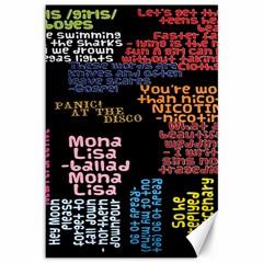 Panic At The Disco Northern Downpour Lyrics Metrolyrics Canvas 12  X 18