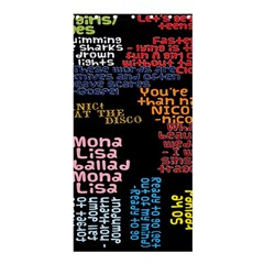Panic At The Disco Northern Downpour Lyrics Metrolyrics Shower Curtain 36  X 72  (stall)