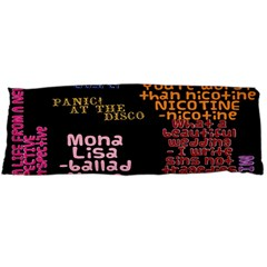 Panic At The Disco Northern Downpour Lyrics Metrolyrics Body Pillow Case Dakimakura (two Sides)