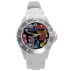 Panic At The Disco Northern Downpour Lyrics Metrolyrics Round Plastic Sport Watch (l)