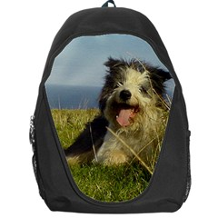 Bearded Collie Laying Backpack Bag