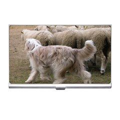 Bearded Collie Working Business Card Holders