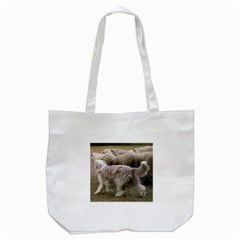 Bearded Collie Working Tote Bag (white)