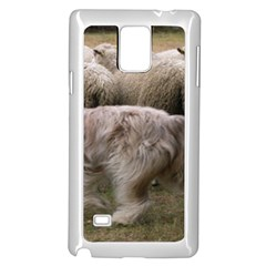 Bearded Collie Working Samsung Galaxy Note 4 Case (white)