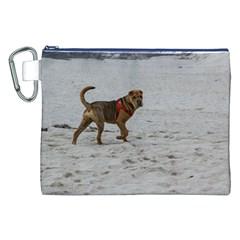 Shar Pei On Beach Canvas Cosmetic Bag (xxl)