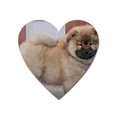 Chow Chow Pup Heart Magnet