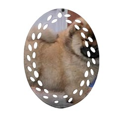 Chow Chow Pup Ornament (oval Filigree)