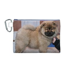 Chow Chow Pup Canvas Cosmetic Bag (m)