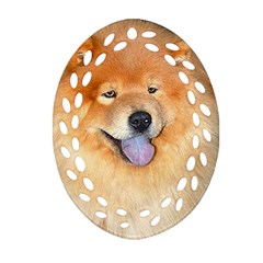 Chow Chow Oval Filigree Ornament (two Sides)