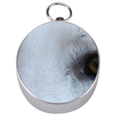 White German Shepherd Eyes Silver Compasses