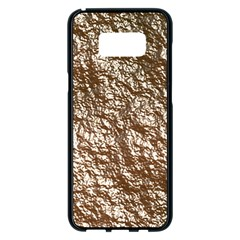 Crumpled Foil 17a Samsung Galaxy S8 Plus Black Seamless Case