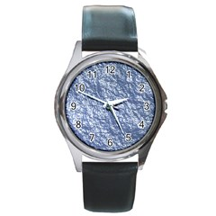 Crumpled Foil 17d Round Metal Watch