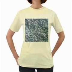 Crumpled Foil 17d Women s Yellow T Shirt