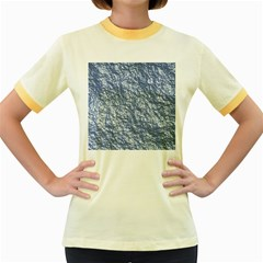 Crumpled Foil 17d Women s Fitted Ringer T Shirts