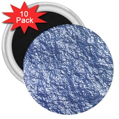 Crumpled Foil 17d 3  Magnets (10 Pack)