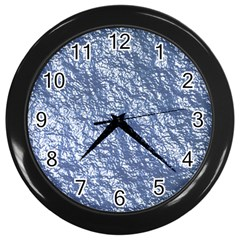 Crumpled Foil 17d Wall Clocks (black)