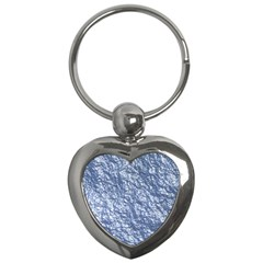 Crumpled Foil 17d Key Chains (heart)