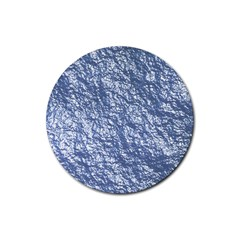 Crumpled Foil 17d Rubber Round Coaster (4 Pack)