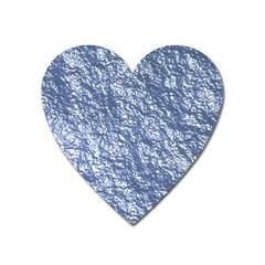 Crumpled Foil 17d Heart Magnet
