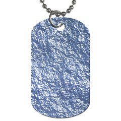 Crumpled Foil 17d Dog Tag (two Sides)