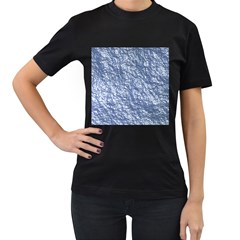 Crumpled Foil 17d Women s T Shirt (black) (two Sided)
