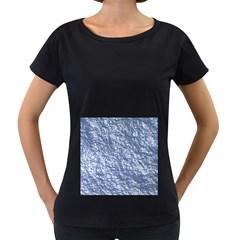 Crumpled Foil 17d Women s Loose Fit T Shirt (black)
