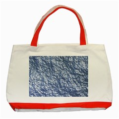 Crumpled Foil 17d Classic Tote Bag (red)