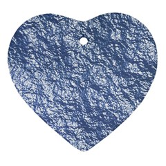 Crumpled Foil 17d Heart Ornament (two Sides)