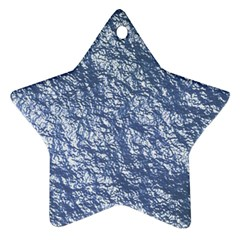 Crumpled Foil 17d Star Ornament (two Sides)