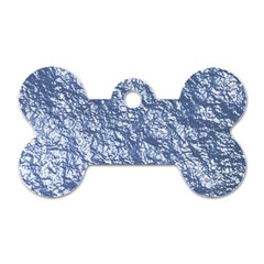 Crumpled Foil 17d Dog Tag Bone (two Sides)