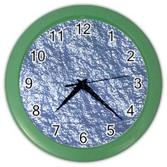 Crumpled Foil 17d Color Wall Clocks
