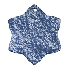 Crumpled Foil 17d Snowflake Ornament (two Sides)