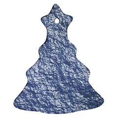 Crumpled Foil 17d Christmas Tree Ornament (two Sides)