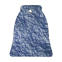 Crumpled Foil 17d Bell Ornament (two Sides)