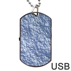 Crumpled Foil 17d Dog Tag Usb Flash (two Sides)