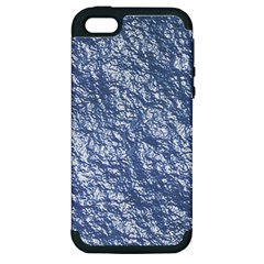 Crumpled Foil 17d Apple Iphone 5 Hardshell Case (pc+silicone)