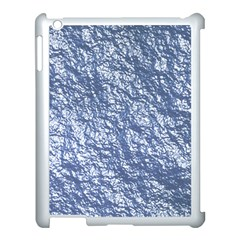 Crumpled Foil 17d Apple Ipad 3/4 Case (white)