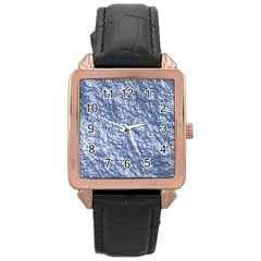 Crumpled Foil 17d Rose Gold Leather Watch