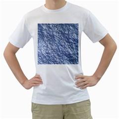 Crumpled Foil 17d Men s T Shirt (white)