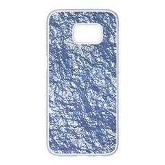 Crumpled Foil 17d Samsung Galaxy S7 Edge White Seamless Case