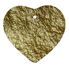 Crumpled Foil 17c Ornament (heart)
