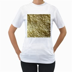 Crumpled Foil 17c Women s T Shirt (white) (two Sided)