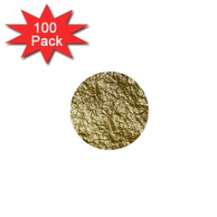 Crumpled Foil 17c 1  Mini Buttons (100 Pack)