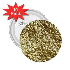 Crumpled Foil 17c 2 25  Buttons (10 Pack)