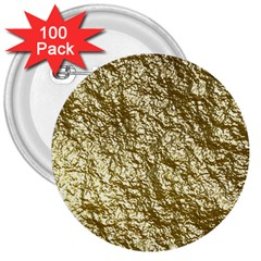 Crumpled Foil 17c 3  Buttons (100 Pack)