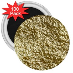Crumpled Foil 17c 3  Magnets (100 Pack)