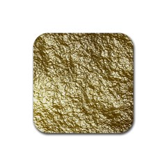 Crumpled Foil 17c Rubber Square Coaster (4 Pack)