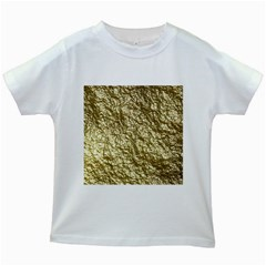 Crumpled Foil 17c Kids White T Shirts