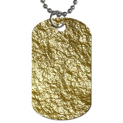 Crumpled Foil 17c Dog Tag (two Sides)