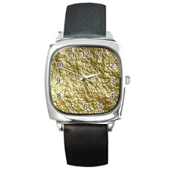 Crumpled Foil 17c Square Metal Watch